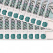 Stock Photo: Background of Russibanknotes
