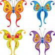 Set of butterflies: raster version — Stock Photo