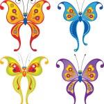Set of butterflies: raster version — Stock Photo