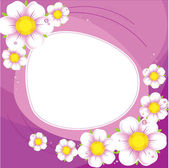 Purple background with a white flowers — Stock Vector
