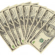 American 10-dollar banknotes — Stock Photo #9492336
