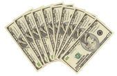 American 10-dollar banknotes — Stock Photo