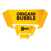 Origami bubble — Stock Vector