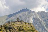 Ruin of castle in Valle d'Aosta — Stock Photo