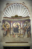 Aosta - Fresco in the Cathedral — Stock Photo