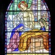 Pont-de-Beauvoisin - Stained glass — Stock Photo