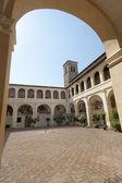 Soud starověkého paláce ve městě bevagna — Stock fotografie