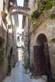 Old street in Bevagna — Stock Photo