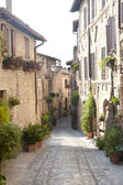 Spello, old street — Stock Photo