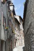 Gubbio, antiga rua — Foto Stock