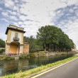 Villa Gaia and the Naviglio Grande — Stok fotoğraf