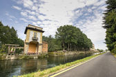 Villa Gaia and the Naviglio Grande — Stock Photo