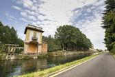 Villa Gaia and the Naviglio Grande — Stock Photo
