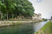 Villa Gaia on the Naviglio Grande — Stock Photo