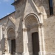 San Quirico d&#039;Orcia (Tuscany), church - Stock Photo
