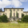 Old villa near Castelfiorentino (Tuscany) - Stock Photo