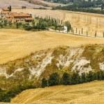 Farm in Val d'Orcia (Tuscany) — Stock Photo