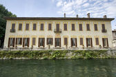 Villa Gaia on the Naviglio Grande — Stock Photo