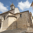 San Quirico d'Orcia (Tuscany), church — Stock Photo