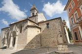 San Quirico d'Orcia (Tuscany), church — Stock Photo