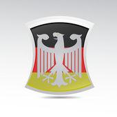 Escudo de alemania — Vector de stock