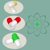 Medicine tablets — Stock Vector