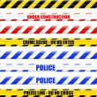 Warning tape — Vector de stock
