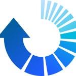 Blue Process Arrow — Stock Vector #9116862