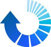 Flèche bleue de processus — Vecteur