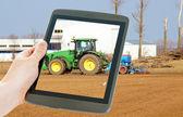 Brambory a zemědělství — Stock fotografie