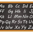 Chalkboard - Alphabet — Stock Photo
