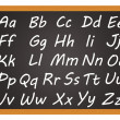 Stock Photo: Chalkboard - Alphabet