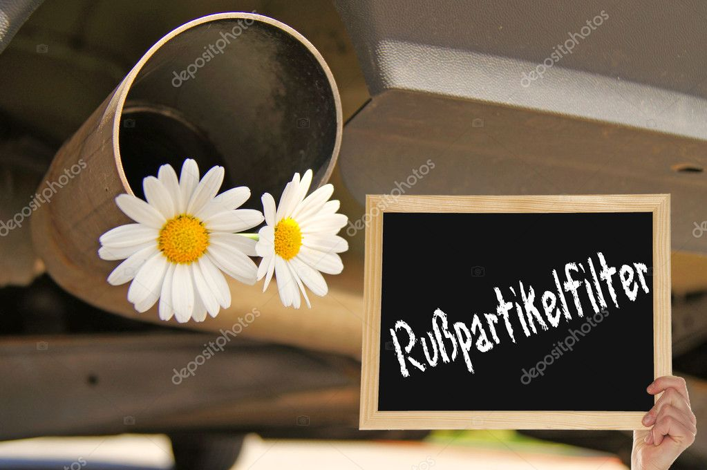 Particulate filters - car with flowers — Stock Photo #10722366
