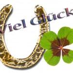 Vierblättriger Glücksklee — Stock Photo