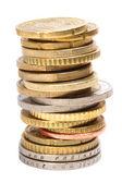 Monedas de euro — Foto de Stock