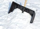 снег слайд — Стоковое фото