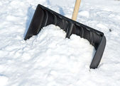 Snow slide — Stockfoto