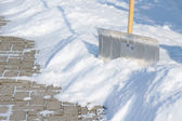 Snow slide — Stock Photo