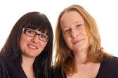 Portrait of two pretty young women — Φωτογραφία Αρχείου