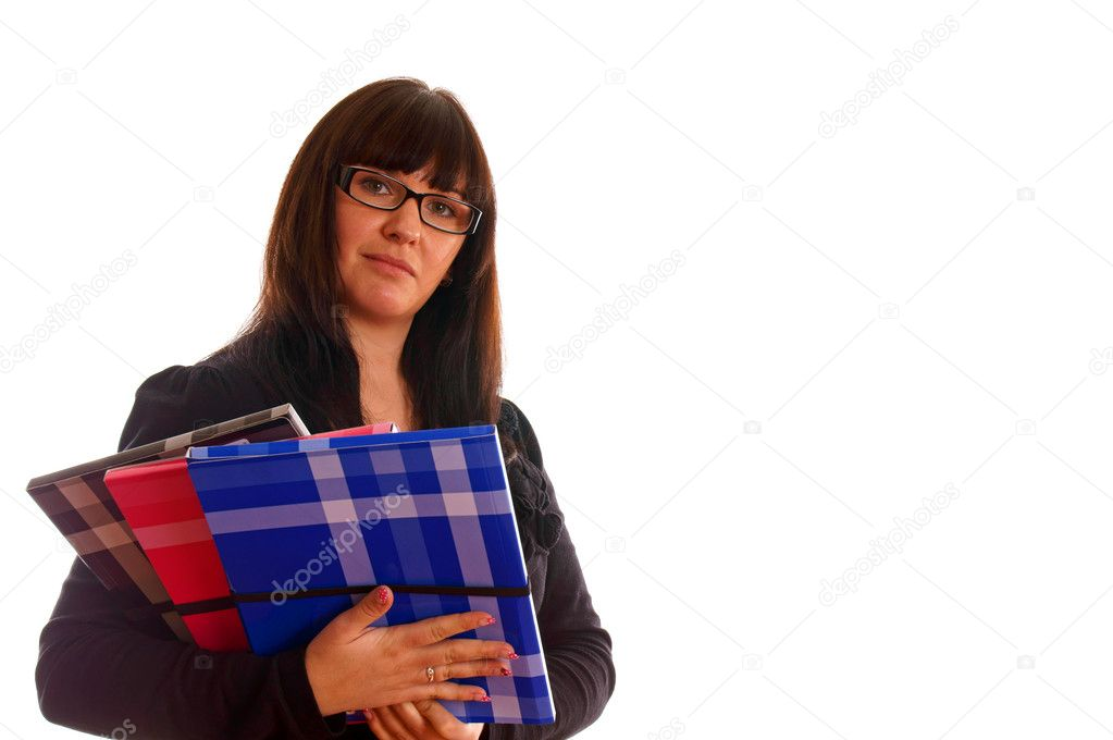 Attractive young student with books  Stock Photo #9696821
