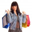 Attractive young girl with shopping bags — Stock Photo #9774351
