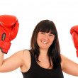 Athletic girl with boxing gloves — Stock Photo #9875034