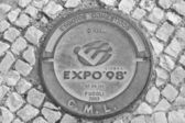 Expo 98 manhole — Stock Photo