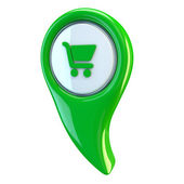 E-commerce glossy icon — Stockfoto