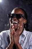Южноафриканские женщины смотреть 3d фильм — Стоковое фото