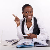 Young South African office worker — Stock Photo