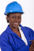 Gorgeous young industrial manager — Stock Photo