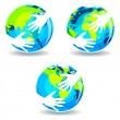 Earth In Hands - Stock Vector