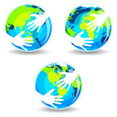 Earth In Hands — Stock Vector