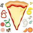 Royalty-Free Stock Vektorfiler: Pizza Toppings